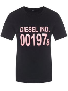Diesel Diesel Póló Sily 00SC3F 0CATJ Fekete Regular Fit
