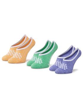 Vans Vans Súprava 3 párov kotníkových ponožiek dámských Cmarlc VN0A49Z9VCX1 r.37-41 Oranžová