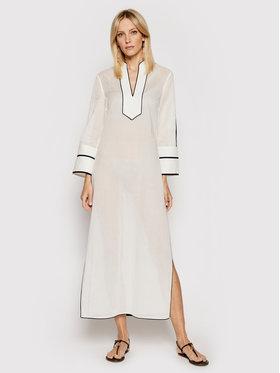 Tory Burch Tory Burch Sukienka plażowa Color-Blocked 84553 Biały Regular Fit