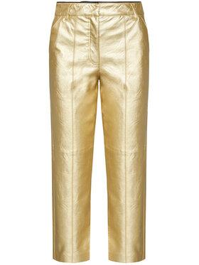 Pinko Pinko Kožené kalhoty UNIQUENESS Busoni PE21 UNQS 1Q1088 Y6VG Zlatá Regular Fit