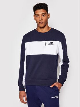 New Balance New Balance Bluză Athletics Fleece Crew MT11501 Bleumarin Relaxed Fit