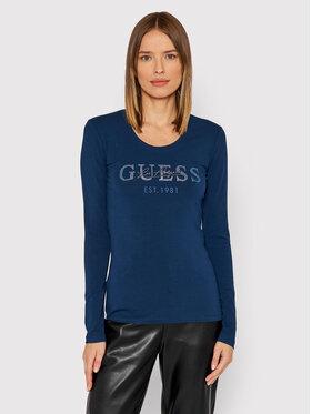 Guess Guess Bluză Izaga Tee W1BI03 J1311 Bleumarin Slim Fit