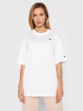 Champion Champion T-Shirt Maxi 114131 Biały Oversize