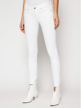 Pepe Jeans Pepe Jeans jeansy Skinny Fit Soho PL210804 Bianco Skinny Fit