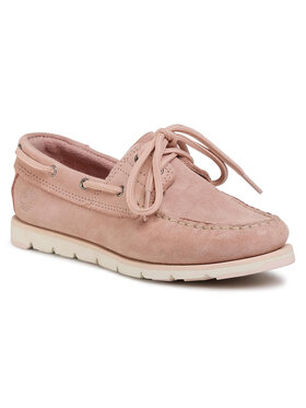 Timberland Timberland Mokasyny Camden Falls Suede Boat TB0A1P836621 Różowy