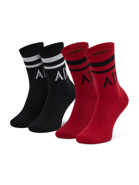 Armani Exchange Armani Exchange Lot de 2 paires de chaussettes hautes unisexe 953030 CC650 05221 Rouge