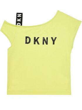 DKNY DKNY Blúz D35R44 D Sárga Regular Fit