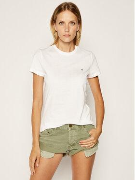 Tommy Hilfiger Tommy Hilfiger T-Shirt WW0WW22043 Λευκό Regular Fit