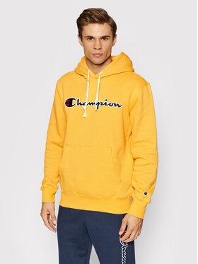 Champion Champion Majica dugih rukava Script Logo 216470 Žuta Custom Fit