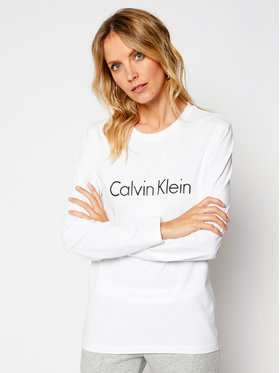 Calvin Klein Underwear Calvin Klein Underwear Bluză 000QS6164E Alb Relaxed Fit