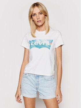 Levi's® Levi's® Tricou Graphic Jordie A0458-0004 Alb Regular Fit
