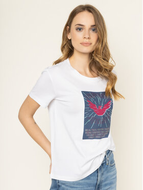 Emporio Armani Emporio Armani T-Shirt 3H2T7N 2J30Z 0100 Biały Regular Fit