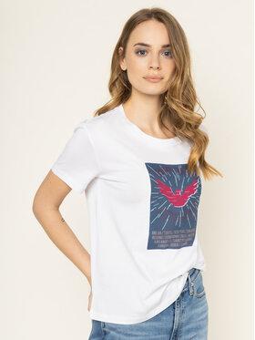 Emporio Armani Emporio Armani T-Shirt 3H2T7N 2J30Z 0100 Bílá Regular Fit