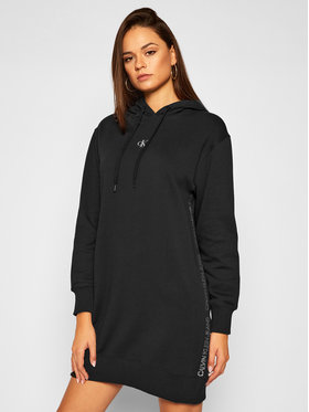 Calvin Klein Jeans Calvin Klein Jeans Úpletové šaty Side Logo J20J215181 Čierna Regular Fit