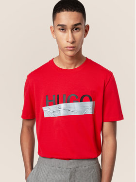 Hugo Hugo T-Shirt Dicagolino_U204 50436413 Rot Regular Fit