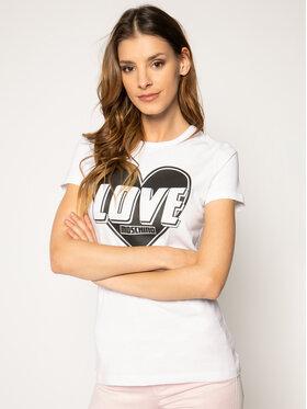 LOVE MOSCHINO LOVE MOSCHINO Тишърт W4F7357E 1698 Бял Regular Fit