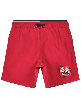 TOMMY HILFIGER TOMMY HILFIGER Szorty kąpielowe Medium Drawstring UB0UB00272 Czerwony Regular Fit