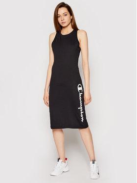 Champion Champion Ежедневна рокля Vertical Script Logo Print 112610 Черен Regular Fit