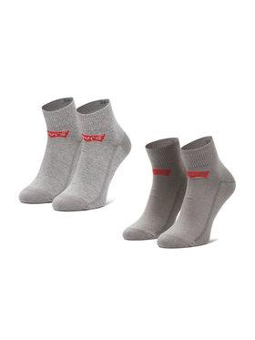 Levi's® Levi's® Set di 3 paia di calzini corti da uomo 37157-0179 Grigio