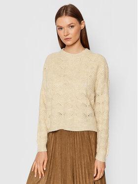Vero Moda Vero Moda Sweter Stinna 10253212 Beżowy Regular Fit