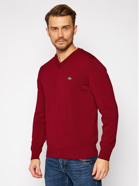 Lacoste Lacoste Sweter AH2183 Bordowy Classic Fit