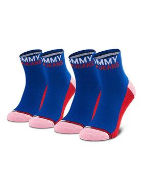 Tommy Jeans Tommy Jeans Sada 2 párů dámských vysokých ponožek 100000399 Modrá