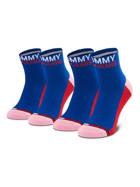 Tommy Jeans Tommy Jeans Set de 2 perechi de șosete lungi de damă 100000399 Albastru