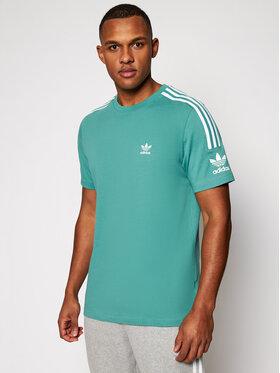 adidas adidas T-Shirt Tech FM3799 Grün Relaxed Fit