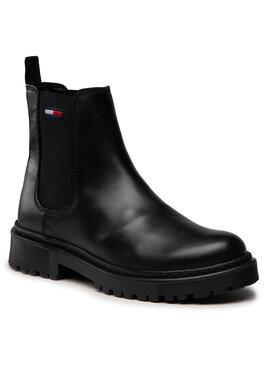Tommy Jeans Tommy Jeans Μποτάκια με λάστιχο Branded Tape Chelsea Boot EN0EN01577 Μαύρο