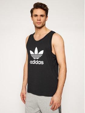 adidas adidas Топ Trefoil DV1509 Черен Regular Fit