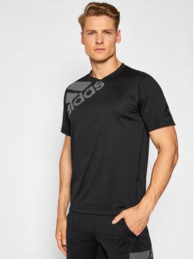 adidas adidas Techniniai marškinėliai Freelift Badge Of Sport Graphic DU0902 Juoda Regular Fit