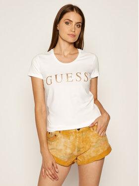 Guess Guess T-Shirt Angelika W0YI0L J1300 Bílá Slim Fit
