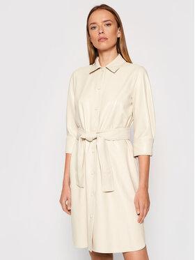 Marella Marella Šaty z imitácie kože Bronte 36260118 Béžová Regular Fit