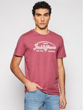 Jack&Jones Jack&Jones Marškinėliai Brians 12186404 Rožinė Regular Fit