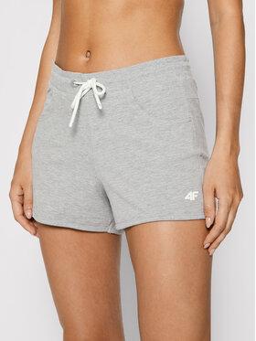 4F 4F Pantaloni scurți sport NOSH4-SKDD001 Gri Regular Fit