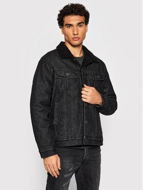 Lee Lee Kurtka jeansowa Sherpa L87AFFKO Czarny Regular Fit
