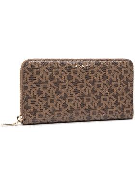 DKNY DKNY Veliki ženski novčanik Bryant New Zip Around R831J658 Smeđa