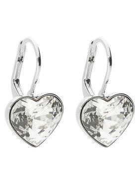 Swarovski Swarovski Kolczyki Bella Heart 5515191 Srebrny