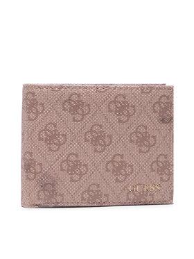 Guess Guess Veľká pánska peňaženka Vezzola (4G Logo Basique) SMVEZL LEA24 Hnedá