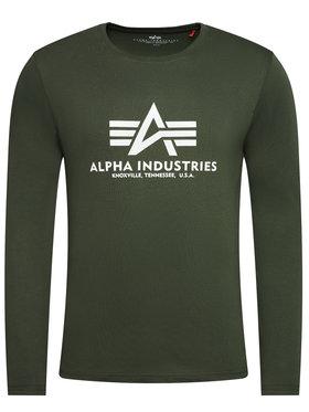 Alpha Industries Alpha Industries Longsleeve Basic T 100510 Zielony Regular Fit