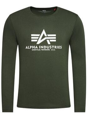 Alpha Industries Alpha Industries Marškinėliai ilgomis rankovėmis Basic T 100510 Žalia Regular Fit