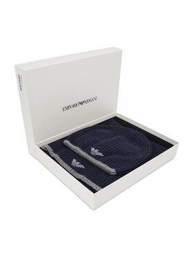 Emporio Armani Emporio Armani Комплект шал и шапка 628004 CC984 00035 Тъмносин