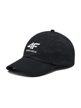 4F 4F Kepurė su snapeliu H4L21-CAM006 Juoda