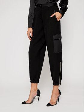 TwinSet TwinSet Kalhoty z materiálu 202TT2T24 Černá Regular Fit