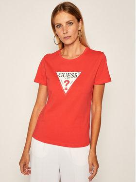 Guess Guess T-shirt Triangle Logo W0YI57 K8HM0 Rosso Regular Fit