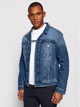 Calvin Klein Jeans Calvin Klein Jeans Jeansová bunda J30J317246 Tmavomodrá Slim Fit