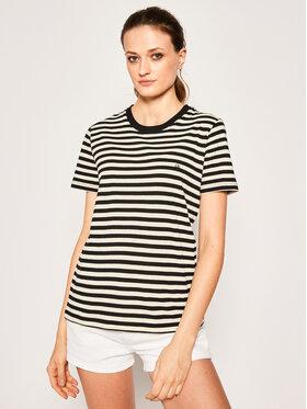 Calvin Klein Calvin Klein T-Shirt Embroidered Logo Stripe K20K201984 Czarny Regular Fit