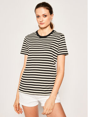 Calvin Klein Calvin Klein Тишърт Embroidered Logo Stripe K20K201984 Черен Regular Fit