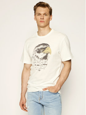 Lee Lee Тишърт Biker Tee L60CFERR Бял Relaxed Fit