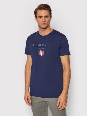 Gant Gant T-Shirt Shield 2003023 Granatowy Regular Fit
